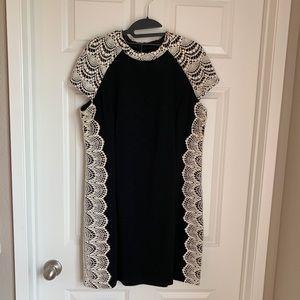 Kensie Crochet Detailed Minidress